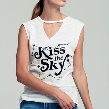 Kiss The Sky Celestial Graphic Top