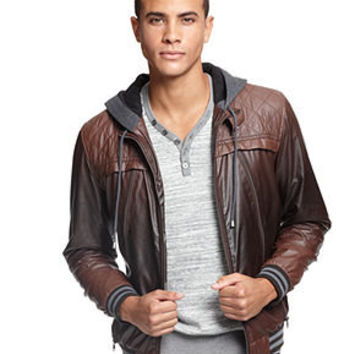 Bar III Jacket, Ombre Faux Leather Jacket - Mens Coats & Jackets - Macy's