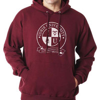 Round Logo Idris University Unisex Hoodie S to 3XL