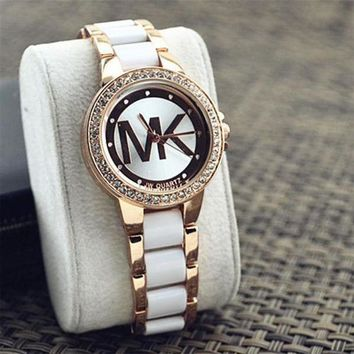 MK Fashion Diamonds Watch Masonry Watches Business Watches