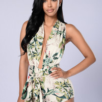 Welcome to the Jungle Romper - Green