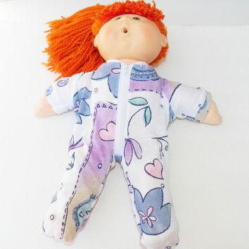 "Cabbage Patch Clothes, fits 16"" kids girl doll, pAJAMAS 'Emma loves Flowers and Hearts'"
