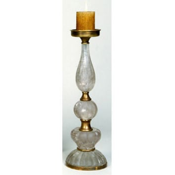 Jene's Brass Candle Holder In & Rock Crystal Resin