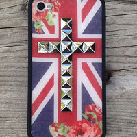 British Rose Silver Cross iPhone 4/4s Case | wildflower cases