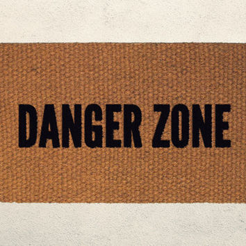 Danger Zone Welcome Doormat – Hand Painted Outdoor Rug – Funny Archer and Kenny Loggins Inspired Doormat