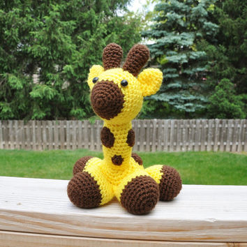 George the Giraffe - Stuffed Crochet Toy (Amigurumi) - Large