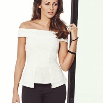 Michelle Keegan Bardot Top
