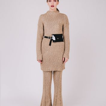 Splash Knitted Long Sweater Co-Ord