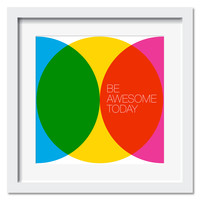 Be Awesome, White Frame