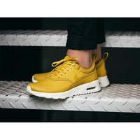 Discount Nike Air Max Thea Mustard Yellow Womens Shoes & Trainers UK