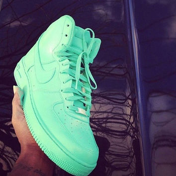New Custom Painted All Mint All Sizes Nike Air Force 1's High