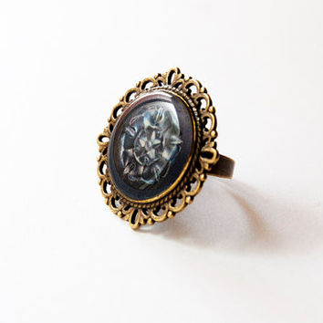 House Tyrell of Highgarden Crest - Tyrell Ring - Game of Thrones Jewelry - A Song of Ice and Fire - Handmade Vintage Cameo Ring
