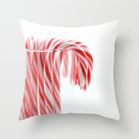 Christmas Throw Pillow Cover Photography Print Polyester Holiday Candy Cane