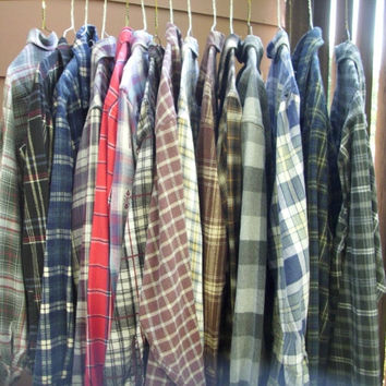 Mystery Flannel - Flannel Shirt, Vintage Flannel, Grunge Clothing, Oversized Shirt, Hipster Shirt, Indie Flannel, Plaid Shirt, Mens Clothing