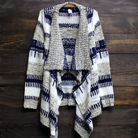 all that striped knit cardigan jacket