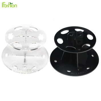 6 Hole Oval Makeup Brush Holder Drying Rack Makeup Organizer Cosmetic Stand Shelf for Toothbrush Oval Brushes Maquiagem