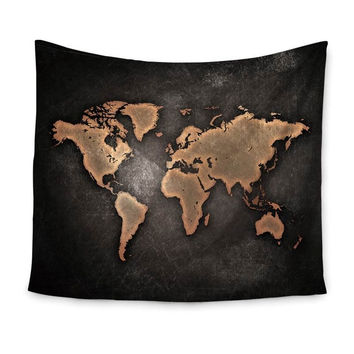 World Map Indian Tapestry Wall Hanging