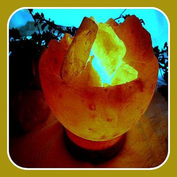 """Soothing & Healing"" Himalayan Rock Salt Bowl Lamp"