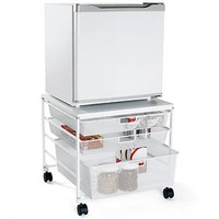 The Container Store > White elfa Mesh Compact Fridge Cart