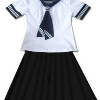 Japanese School Girl Sailor Uniform Cosplay Costume NEW ( DISCOUNT )