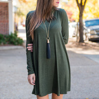 Can't Beat Style Dress, Olive