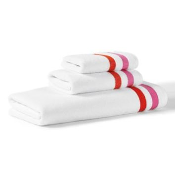 kate spade new york grosgrain stripe towel collection | Nordstrom