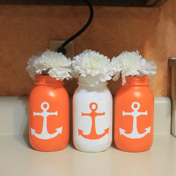 Mason Jar Decor, Cookie/sugar jar, Flower Holder, pencil holder. Customized in your colors & print.