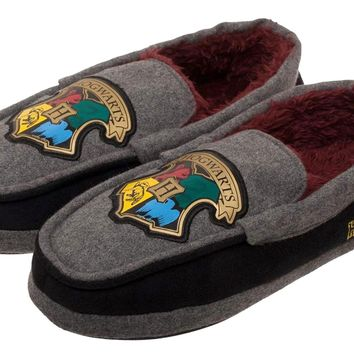 e8cc79c7cdd Harry Potter Hogwarts Slippers Moccasin Shoes With Rubber Soles. 100%  Officially Licensed Harry Potter Merchandise ...
