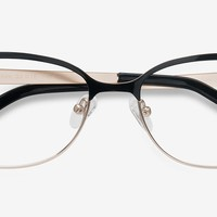 Sapphire | Black Golden | Women Metal Eyeglasses | EyeBuyDirect