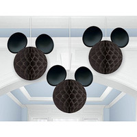 Mickey Mouse Hanging Mouse Ears Party Decorations