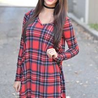 Holiday Gatherings Plaid Dress