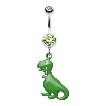 Vibrant Dinosaur Belly Button Ring