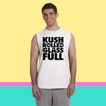 Kush Rolled Glass Full Sleeveless T-shirt