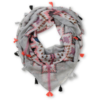 D&Y Tribal Tassel Grey Scarf