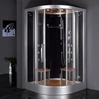 "Ariel Bath Platinum 47.2"" x 47.2"" x 89"" Steam Shower - DZ962F8 - Steam Units - Bathroom Fixtures - Bed & Bath"