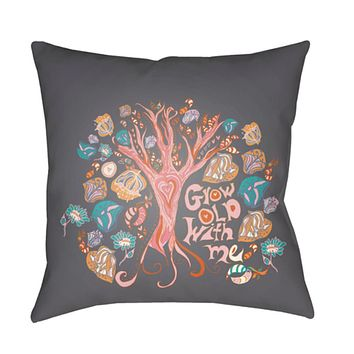 Doodle Pillow Cover - Burnt Orange, Mint, Bright Pink, Charcoal - DO011
