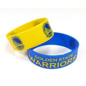 Golden State Warriors Bracelets 2 Pack Wide