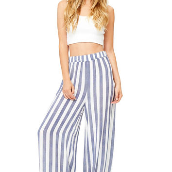 Cruise Stripe Wide Leg Pants