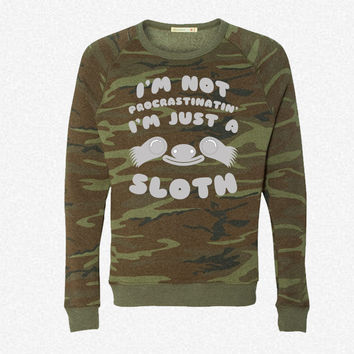 I'm Just a Sloth fleece crewneck sweatshirt