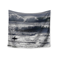 "Nick Nareshni ""Lone Surfer"" Blue Tan Wall Tapestry"