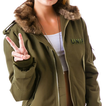 UNIF Flight Jacket Army Green