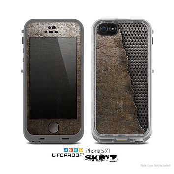 The Rustic Peeled Metal Skin for the Apple iPhone 5c LifeProof Case