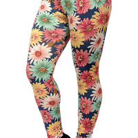 Colorful Sunflowers Leggings Design 284