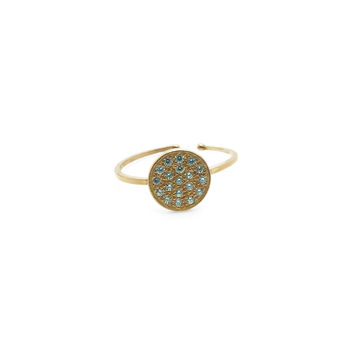 Arabesque Silver with Zircons, Rose-Plated Ring