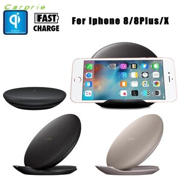 CARPRIE Hot Product New Qi Fast Wireless Charger Rapid Charging Stand For Iphone 8 / 8 Plus / X portable charger mobile charger