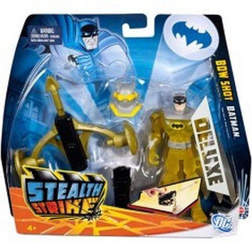 Batman Stealth Strike Deluxe NIB Mattel Bow Shot Batman new in box