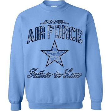 Proud Air Force Father-in-Law Sweatshirt (Camo)