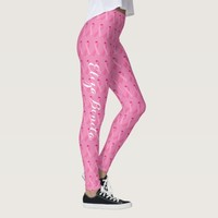 Pink Ribbon for Breast Cancer Awareness Customized Leggings