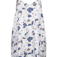 Silk Swirly Floral Print Slip Dress by Boutique - Multi