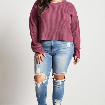 Plus Size Chunky Sweater